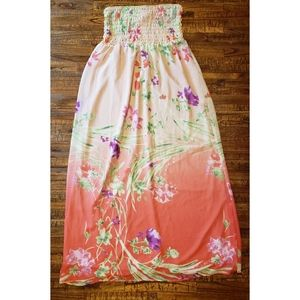 Old Navy Breezy Coral Maxi